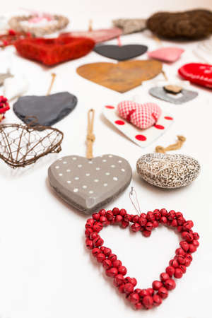 Heart shape is perfect to represent love and affection we show to our loved ones, for a special occasion or in everyday life Banco de Imagens