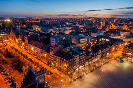 Skyline Louvain, Belgique Banque d'images - 48318404