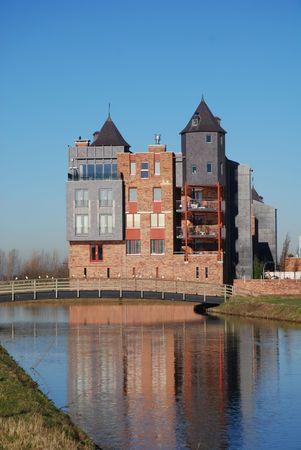 De moderne kastelen van Haverleij (Nederland) 4  Stockfoto