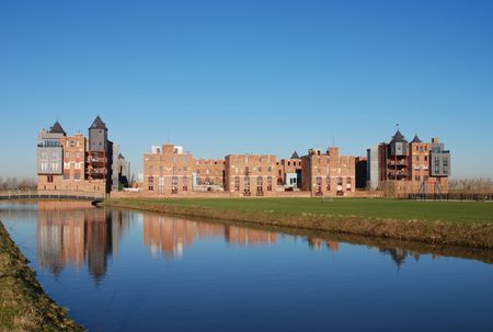 The Modern Castles of Haverleij (The Netherlands) 14 Stock Photo