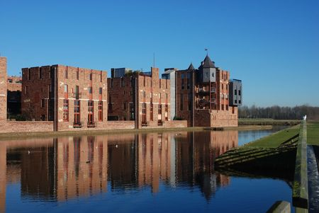 De moderne kastelen van Haverleij (Nederland) 12  Stockfoto