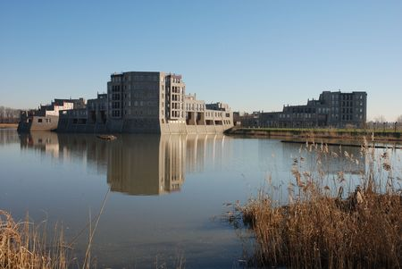 Modern kasteel op Haverleij (Nederland) 1