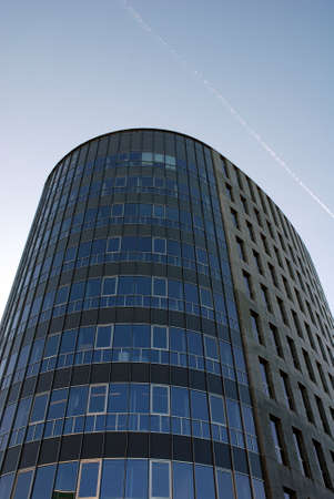 An elegant office building with lots of glass in Den Bosch in the Netehrlands
