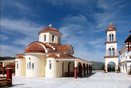 byzantium: A beautiful rebuild monastery near Spili (Crete - Greece) Stock Photo