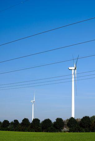 Wind turbines help us to fight global warming