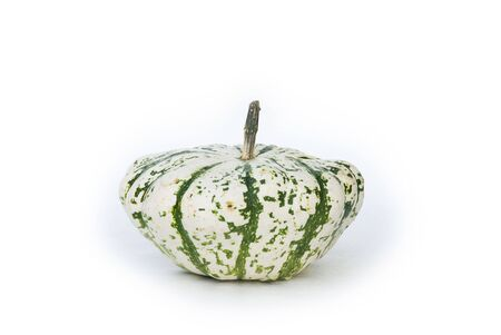 Close up of a pumpkin, an unusual variety. Isolated on white. Stock Photo