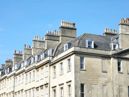 fireplaces: Typical buildings in Bath