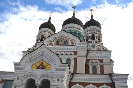 tallinn: Cathedral in Tallinn Stock Photo
