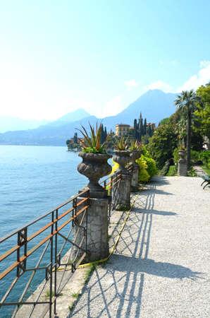como: Villa Monasterio on Lake Como Stock Photo