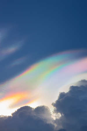iridescent: Beautiful iridescent cloud,Irisation Stock Photo