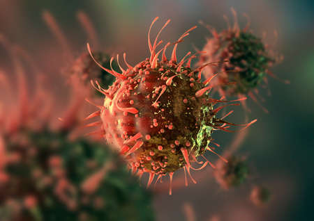 aids virus: virus Cell Stock Photo