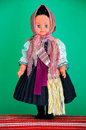 doll in the traditional Slovak costume