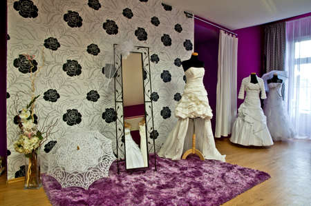 evening wear: The section of wedding store