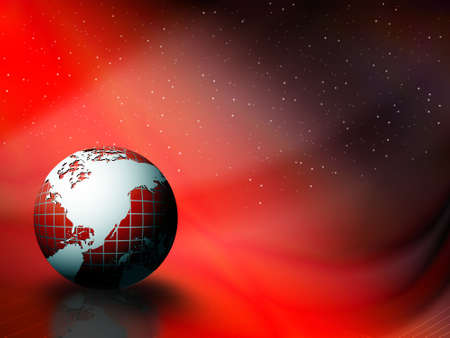 wallpaper of globe on sky background  Stock Photo - 2191909