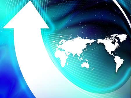white arrow around the globe abstract vector illustration background  illustration