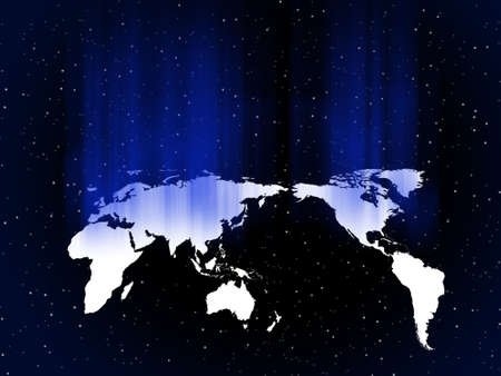 globe in blue light vector background, wallpaper Stock Photo - 2201581