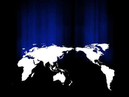 world on black background, vector illustration  illustration
