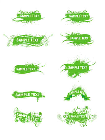 textual: Abstract green sample text vector illustration background
