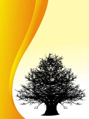 illustraion: Abstract vector illustraion of tree background