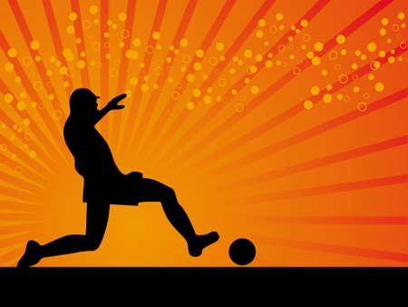 Black defender footballer vector background illustration illustration