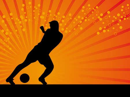 Black footballer vector background illustration illustration