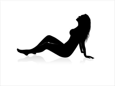 Silhouette of a sexy female abstract illustration background illustration