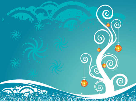Christmas decoration on blue background. abstract vector illustration. illustration