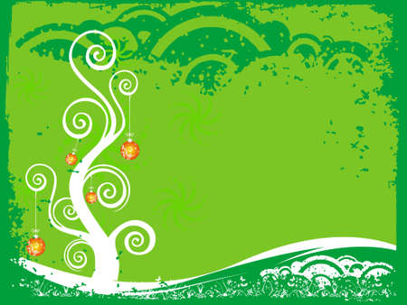 Green vector Christmas theme with tree, abstract wallpaper  photo