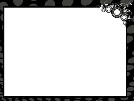 reconnaissance: Arri�re-plan de certificat de vecteur grunge en bordure noire, illustration  Banque d'images