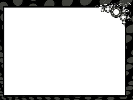 recognition: Grunge vector certificate background in black border, illustration  Stock Photo