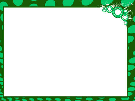 Grunge vector certificate background in green border, illustration