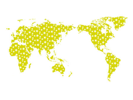 wallpaper of globe with stars background in yellow photo