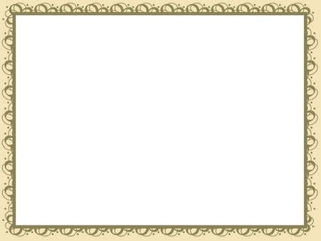 reconnaissance: Fond jaune de certificat de vecteur, illustration Banque d'images