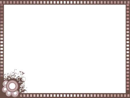 Brown border background, illustration  illustration