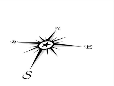 Compass panel on white background, illustration illustration