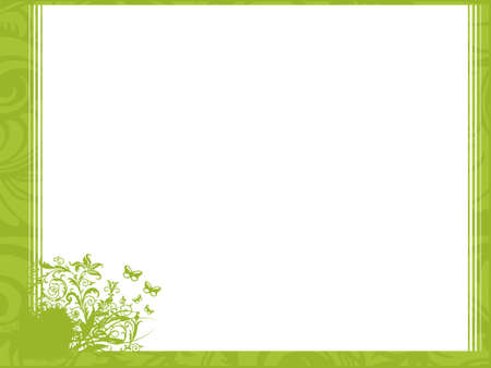official: Flower and lines in corner; frame vector wallpaper