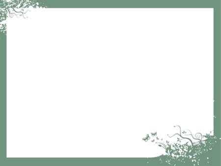 Frame vector illustration in sea green frame    illustration