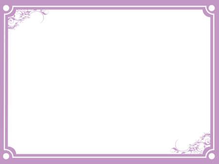 Plum flower border frame on white background illustration illustration