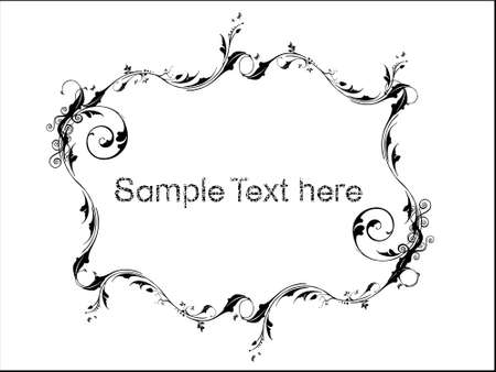 Sample text on floral background in white, vector wallpaper  photo