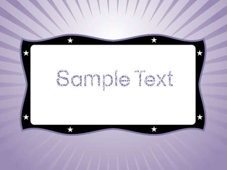 Sample text with stars on purple background, vector wallpaper photo