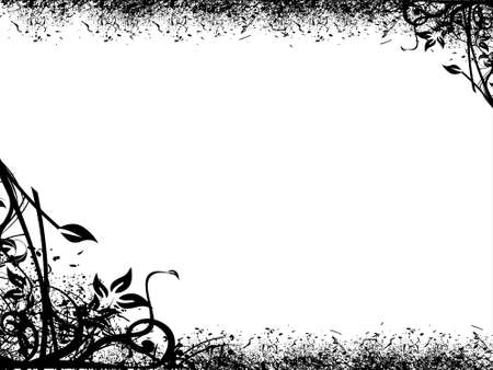 This is vector illustration background of abstract grunge floral Stock Illustration - 2239706