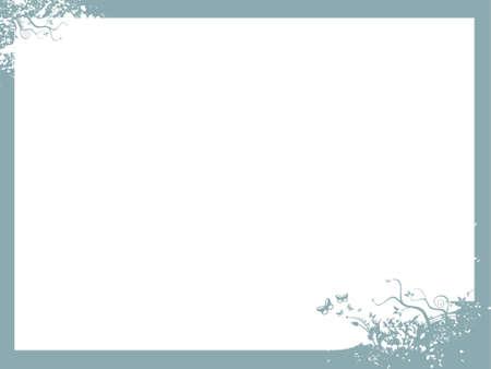 vector illustration in medium turquoise frame    illustration