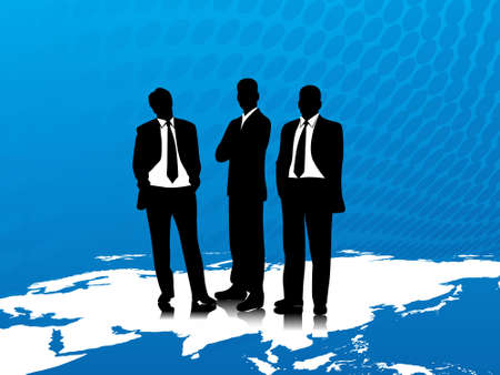 corporate world: This is vector illustration of business corporate people Stock Photo