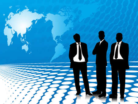 This is vector illustration of business corporate people illustration