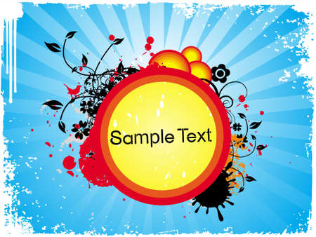 This is Vector illustration of grunge floral sample text illustration