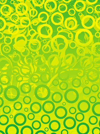 This is vector illustration of cool floral background