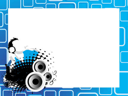 This is vector illustration of cool rectangle pettern background Stock Illustration - 2237454