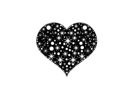 This is vector illustration of grunge elements floral heart Stock Illustration - 2248807
