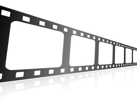 holed: This is vector illustration of film stripe Stock Photo