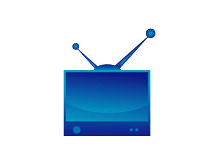 This is vector illustration of television illustration